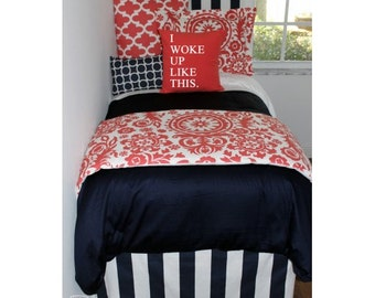 Navy/White Stripes Dorm Room Extended Length 34 Part 72