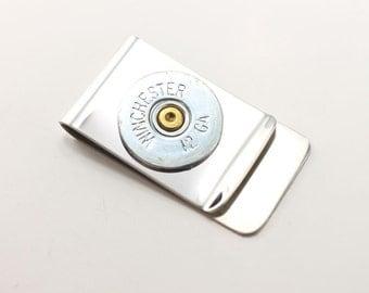 Bullet money clip - Father's Day Gift - mens money clip - money wallet - groomsmen - wedding gift ideas - Shotgun money clip - Gifts for Dad