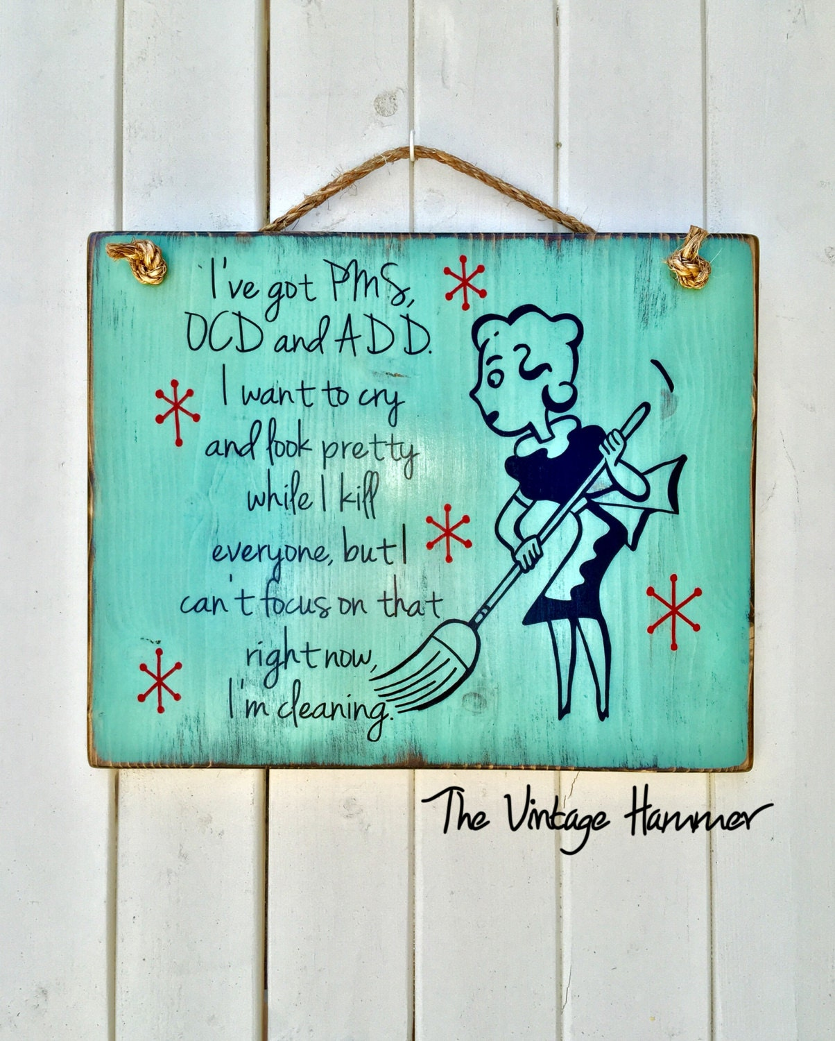 Retro Kitchen Signs: Retro Cleaning Sign Wood Sign Sayings Kitchen Sign Rustic