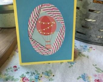 Hot Air Balloon Iris Folding Card