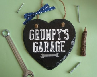 mechanic gifts, personalised garage sign, garage sign, fathers day gift, dad birthday gift, grumpys garage, dads garage, gift for him