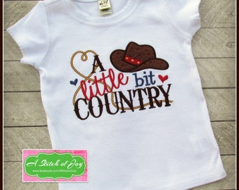 A Little Bit Country, Cowgirl, Cowboy, Western, Embroidery, Appliqué