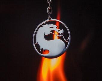 Mortal Kombat Dragon Stainless steel Keychain or Pendant