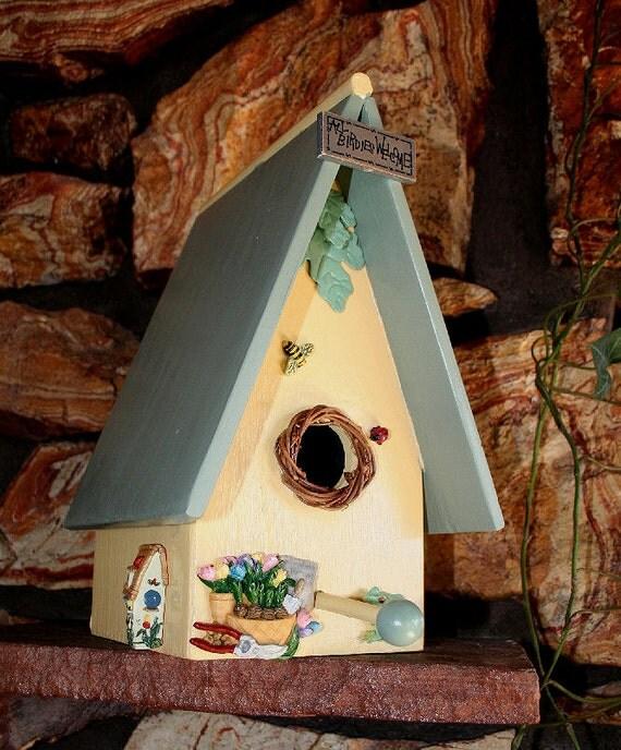 bird house or nesting box indoor home decor or outdoor garden. Black Bedroom Furniture Sets. Home Design Ideas
