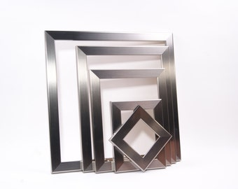 STAINLESS STEEL Picture Frames From 4x4, 5x7, 8X10, 12x12, 10X10, 11X14, 10X20, 14x14, 16x20, 20x30 Custom Sizes Available