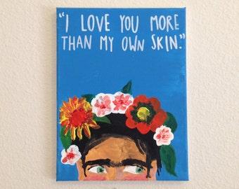Frida Kahlo Portrait / Acrylic Painting