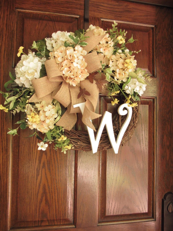 Summer Wreaths Summer Door Wreath Initial Wreath Summer
