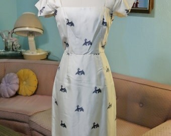 1950's FABULOUS POODLE Print Dress