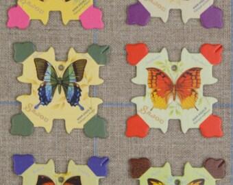 Sajou thread cards by six Honfleur model - Butterflies