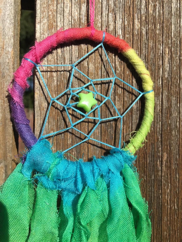 small dream catcher tie dye dreamcatcher by bohodreamcapture. Black Bedroom Furniture Sets. Home Design Ideas