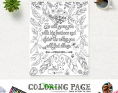 Coloring Page Printable Feather Bible Verse Psalm 91 Instant Download Adult Coloring Printable Bible Quote Digital Art Zen Coloring Pages