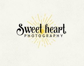 Pre made logo, Sunburst logo, Photo logo, Professional business branding, Personal logo