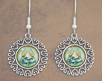 New Year's Eve Toast Earrings - 57947