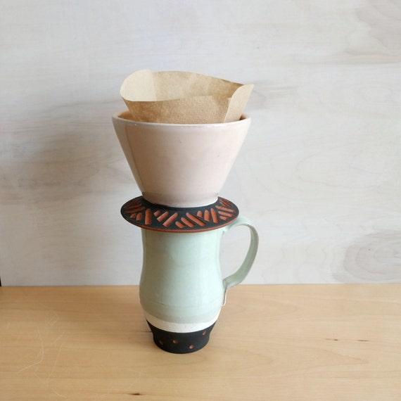 Pour Over Coffee Maker Ceramic : Ceramic Pour Over Drip coffee pour over coffee light