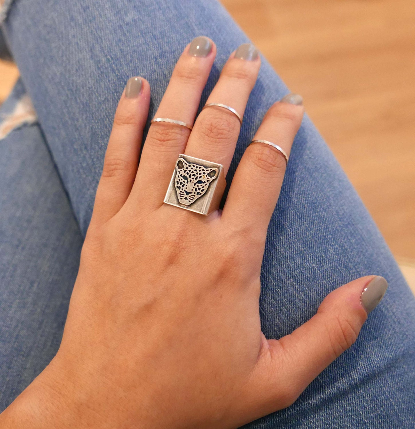 silver ring set knuckle ring set midi ring set silver