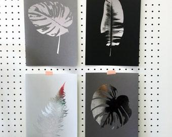 Metallic Fern Leaf Botanical Print