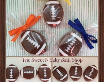 10 Mini Football Party Favor Soaps
