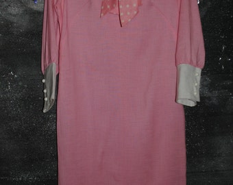 60s mod pink dress medium