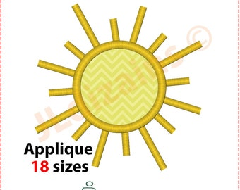 Sun Applique Design. Sun embroidery design. Embroidery applique sun. Embroidery design sun. Sun embroidery. Machine embroidery design.