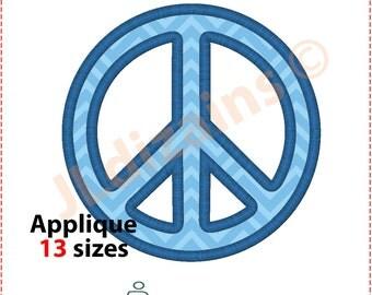Peace Applique Design. Peace embroidery design. Peace symbol applique. Peace sign applique. Peace embroidery. Machine embroidery design