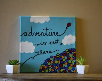 Up Balloon Painting 12x12
