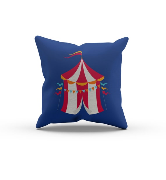 Circus Tent Pillow, Nursery Pillow,Throw Pillow, Kids Throw Pillow, Children s Big Top Circus ...