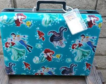 Revamped 1960s Samsonite Combo Attache Laptop Briefcase-The Little Mermaid