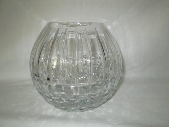 Beautiful Large Bowl Vase Badash Lead Crystal Home Decor New
