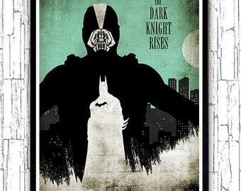 Vintage Bane Batman The Dark Knight Rises Minimalist Movie Poster