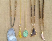 Natural stone or tassel necklaces
