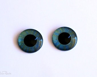 Eyechips metallic for Blythe [color green and blue]