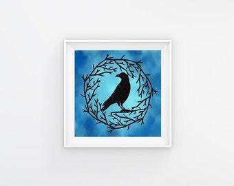 Black Raven Gift - Raven Wall Decor - Black Raven Decor - Gothic Black Bird - Raven Lover Gift - Raven Papercut - Raven Lovers Gifts