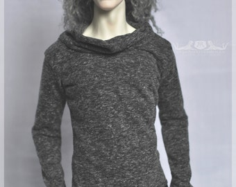 1/3 (SD+) CharcoalGrey Sweater for male 70+ (DollShe M28Classic, Iplehouse E.I.D., Soom Idealian) or any other BJD of similar measurements