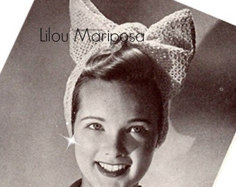 Crochet Headband Pattern Crochet Bow Headband Pattern Crochet Hair Band Pattern Vintage Pattern 40s