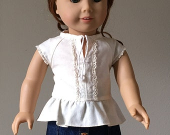 "Peplum Top fits American Girl and 18"" dolls"