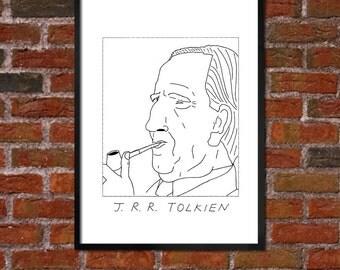 Badly Drawn J. R. R. Tolkien - Literary Poster - *** BUY 4, GET A 5th FREE***