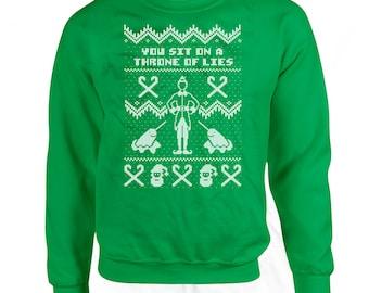 SANTA I KNOW HIM Ugly Christmas Sweater Buddy the Elf