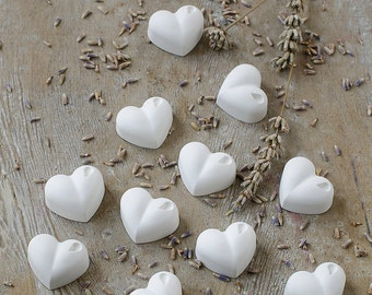 50 75 100 Heart Shaped Scented Lavender  Gessetti-Wedding-Favor-Place Holder Baptism-Christening-Baby Shower-Talc-Idea-Gift-Favour-Gift Tag