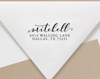 Return Address Stamp, Self Inking Address Stamp, Address Stamp, Wedding Address Stamp, Custom Address Stamp (S55)