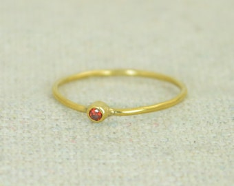Tiny Garnet Ring, Gold Filled Garnet Ring, Garnet Stacking Ring, Garnet Mothers Ring, January Birthstone, Garnet Rings, Tiny Ring,
