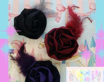 Halloween Twist Flower Feather Hair Clip - Choose One