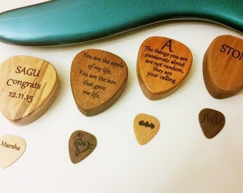 Personalized engraved wooden Guitar Pick box, Personalized Guitar Plectrum Box,Pick Storage,Guitar accessory,musicians gift,stocking stuffer
