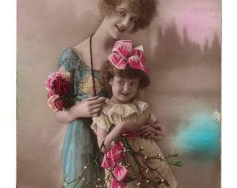 """Belgium vintage postcard """"Bonne Année"""""""", 1922"""