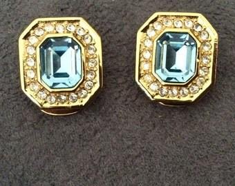 Vintage Christian Dior ear clips - earrings