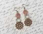 Steampunk Gear Earrings, Steampunk Jewelry, Steampunk Earrings, Industrial Jewelry, Steampunk Gears, Dangle Earrings, Handmade Jewelry