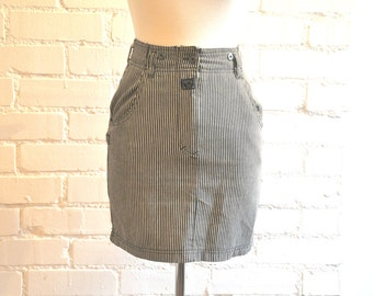 Vintage 90's Denim Pencil Skirt Size Small
