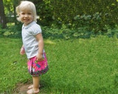 "Wrap Skirt Pattern - Reversible - 1-10Y - ""Evelyn Jane"" - Elastic waist - PDF"