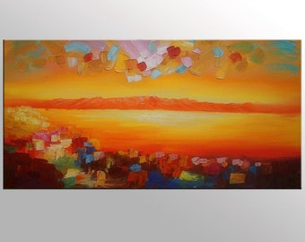 Large Oil Painting, Oil Painting Abstract, Livingroom Canvas Art, Large Art, Landscape Painting, Abstract Art, Canvas Wall Art, Modern Art