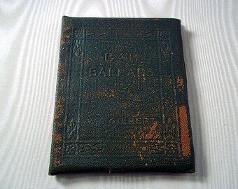 """Antique Books Vintage Books Vintage Miniature Book Little Leather Library Book The """"Bab"""" Ballads by W. S. Gilbert Poetry Book 1920s"""
