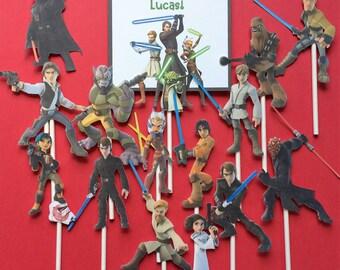Star Wars cupcake toppers, 14 Star Wars Rebels inspired cupcake toppers, Star Wars toppers, Star Wars party, Star Wars, Star Wars party